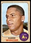1968 Topps #164  Ramon Webster  Front Thumbnail