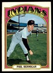 1972 Topps #748  Phil Hennigan  Front Thumbnail