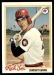 1978 Topps #695  Dwight Evans  Front Thumbnail