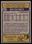 1979 Topps #66  Walter White  Back Thumbnail