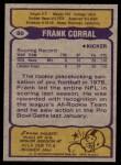 1979 Topps #80   -  Frank Corral All-Pro Back Thumbnail
