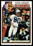 1979 Topps #198  Steve Largent  Front Thumbnail