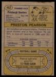 1974 Topps #452  Preston Pearson  Back Thumbnail