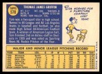 1970 Topps #578  Tom Griffin  Back Thumbnail