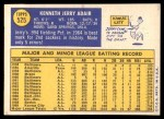 1970 Topps #525  Jerry Adair  Back Thumbnail