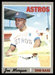 1970 Topps #537  Joe Morgan  Front Thumbnail