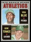 1970 Topps #21   -   Vida Blue / Gene Tenace Athletics Rookies Front Thumbnail