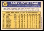 1970 Topps #494  Larry Stahl  Back Thumbnail