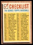 1962 Topps #516 YEL  Checklist 7 Front Thumbnail