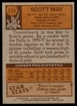 1978 Topps #115  Scott May  Back Thumbnail