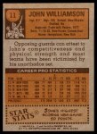 1978 Topps #11  John Williamson  Back Thumbnail