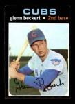 1971 Topps #390  Glenn Beckert  Front Thumbnail