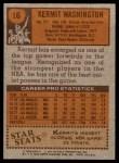 1978 Topps #16  Kermit Washington  Back Thumbnail