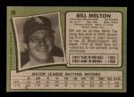 1971 Topps #80  Bill Melton  Back Thumbnail