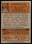 1978 Topps #63  Norm Nixon  Back Thumbnail