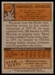 1978 Topps #126  Marques Johnson  Back Thumbnail