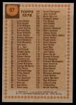 1978 Topps #67   Checklist Back Thumbnail