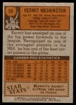 1978 Topps #16  Kermit Washington  Back Thumbnail