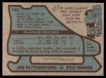 1979 Topps #122  Jim Rutherford  Back Thumbnail