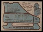 1979 Topps #197  Mike Palmateer  Back Thumbnail