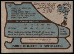 1979 Topps #43  Mike Rogers  Back Thumbnail