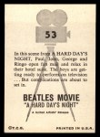 1964 Topps Beatles Movie #53   Opening Fan Mail Back Thumbnail