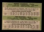 1971 Topps #423   -  Tim Marting / Dennis Saunders Tigers Rookies Back Thumbnail