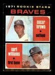 1971 Topps #52   -  Earl Williams / Oscar Brown Braves Rookies Front Thumbnail