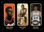 1971 Topps Trios Stickers #1 A Jones/Wise/Issel  Front Thumbnail