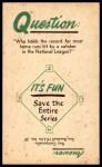 1960 Nu-Card Baseball Hi-Lites #39   -  Ted Williams Hits .406 for Season Back Thumbnail