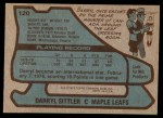 1979 Topps #120  Darryl Sittler  Back Thumbnail
