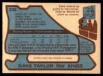 1979 O-Pee-Chee #232  Dave Taylor  Back Thumbnail