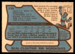 1979 O-Pee-Chee #239  Real Cloutier  Back Thumbnail