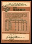 1978 O-Pee-Chee #139  Ron Sedlbauer  Back Thumbnail