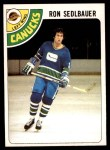 1978 O-Pee-Chee #139  Ron Sedlbauer  Front Thumbnail