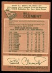 1978 O-Pee-Chee #364  Bill Clement  Back Thumbnail