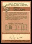 1978 O-Pee-Chee #73  Wayne Dillon  Back Thumbnail