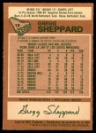 1978 O-Pee-Chee #18  Gregg Sheppard  Back Thumbnail