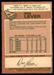 1978 O-Pee-Chee #86  Don Lever  Back Thumbnail