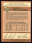 1978 O-Pee-Chee #256  Richard Mulhern  Back Thumbnail