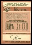 1978 O-Pee-Chee #374  Pat Boutette  Back Thumbnail