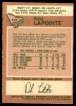 1978 O-Pee-Chee #322  Rick Lapointe  Back Thumbnail