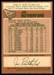1978 O-Pee-Chee #74  Jim Rutherford  Back Thumbnail
