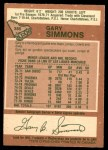 1978 O-Pee-Chee #385  Gary Simmons  Back Thumbnail