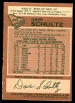 1978 O-Pee-Chee #225  Dave Schultz  Back Thumbnail