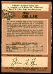 1978 O-Pee-Chee #109  Jere Gillis  Back Thumbnail