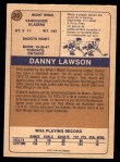 1974 O-Pee-Chee WHA #25  Danny Lawson  Back Thumbnail