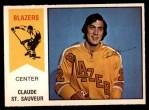 1974 O-Pee-Chee WHA #62  Claude St.Sauveur  Front Thumbnail