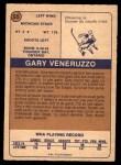 1974 O-Pee-Chee WHA #55  Gary Veneruzzo  Back Thumbnail