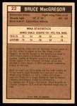 1975 O-Pee-Chee WHA #22  Bruce MacGregor  Back Thumbnail